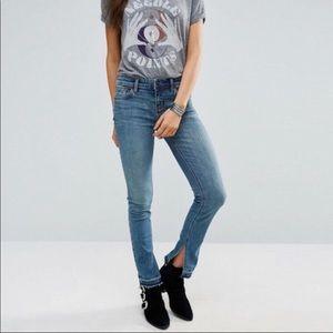 Free people split hem skinny jeans